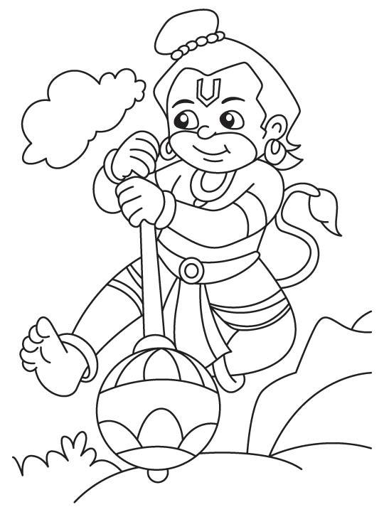 Hanuman Drawing At Getdrawings Com Free For Personal Use Hanuman