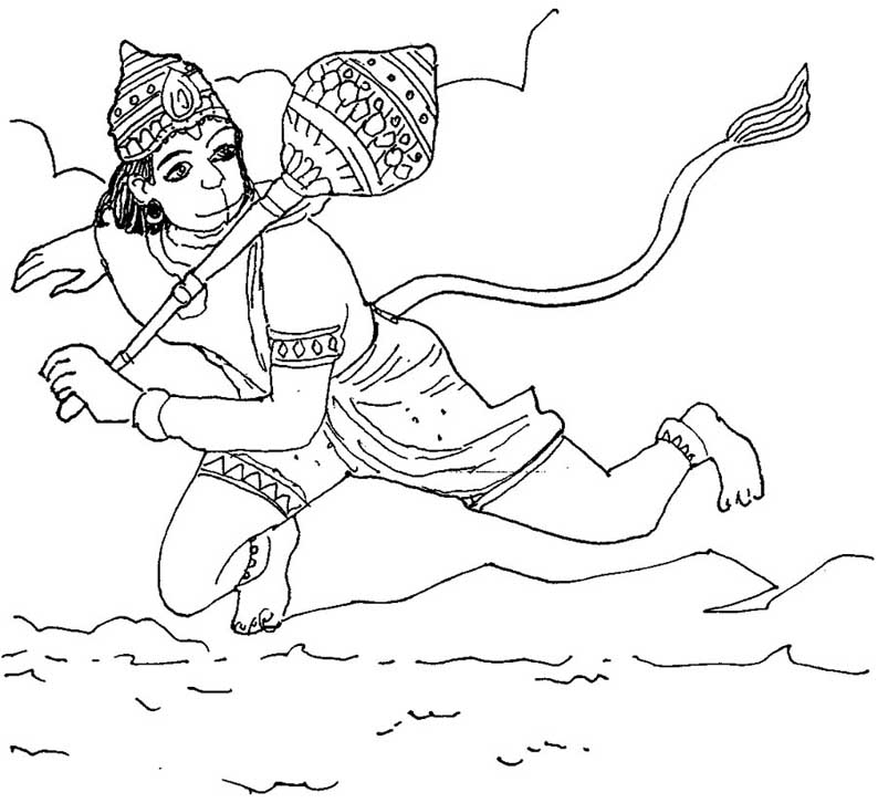 The best free Hanuman drawing images. Download from 100 ...