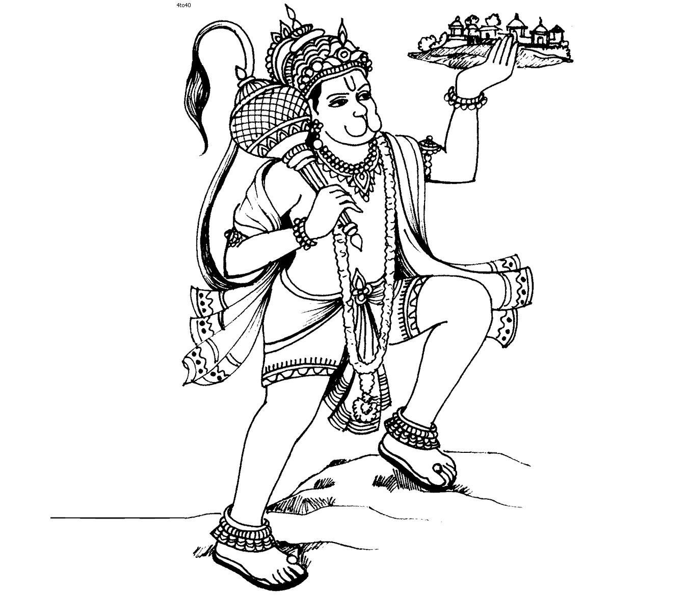 Hanuman Drawing at GetDrawings com | Free for personal use