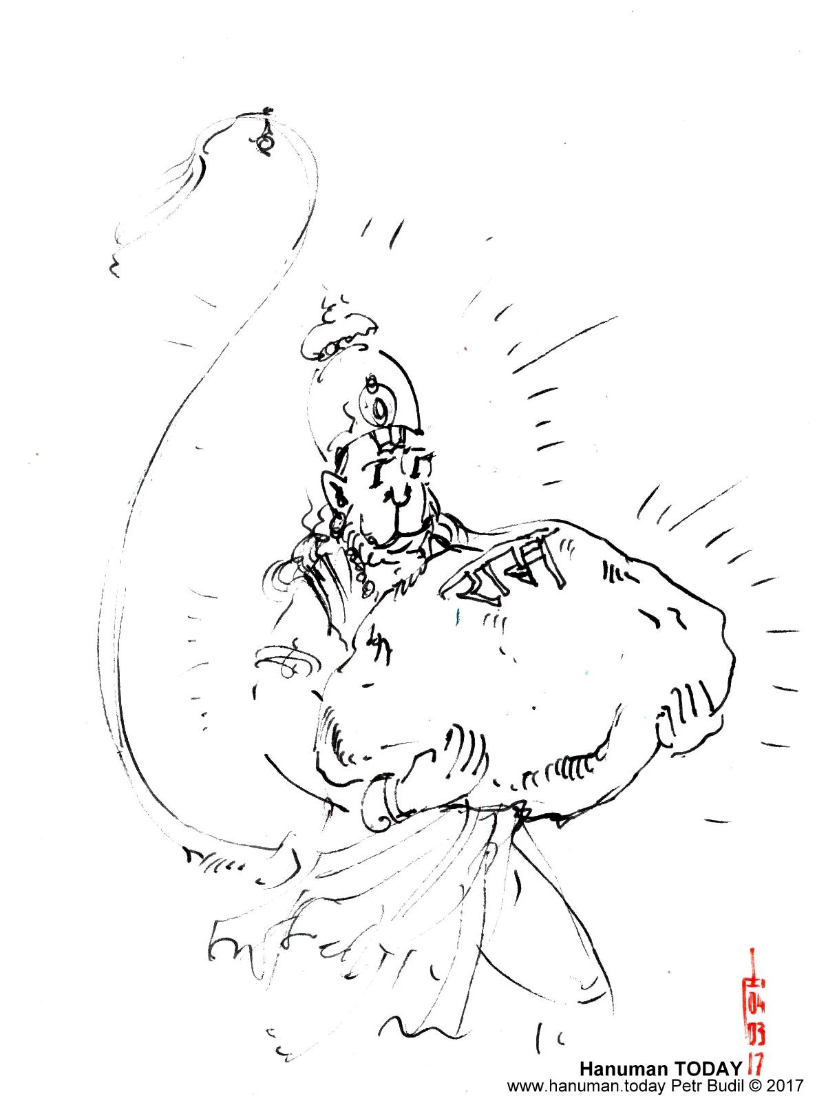 1216x1618 March 4, 2017 Daily Drawings Of Hanuman Hanuman Today
