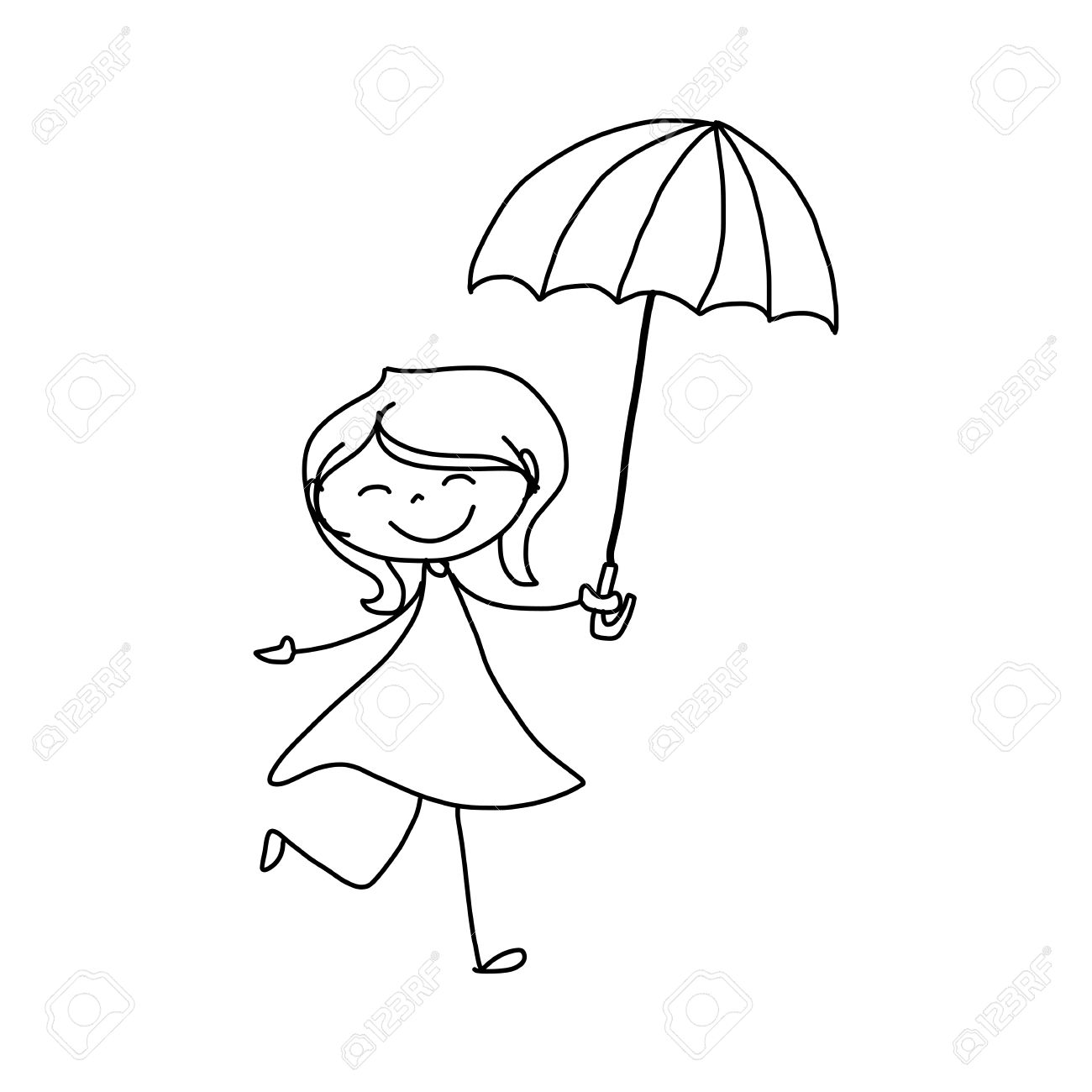 1300x1300 Hand Drawing Cartoon Character Happiness Royalty Free Cliparts