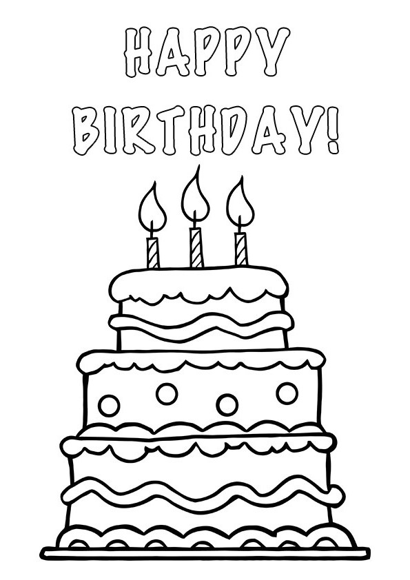 595x842 cake happy birthday party coloring pages celebration coloring
