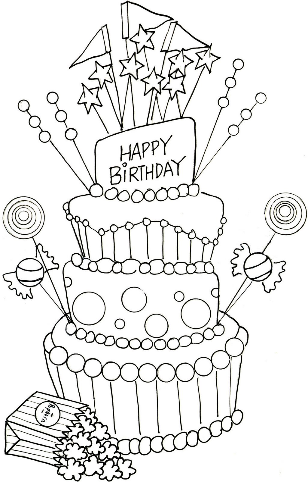 1025x1600 Happy Birthday Mom Coloring Pages