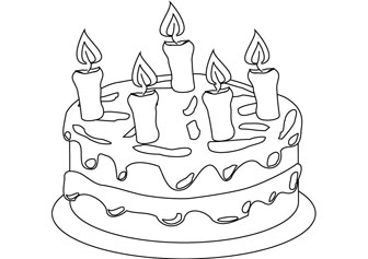336x237 Happy Birthday Coloring Page
