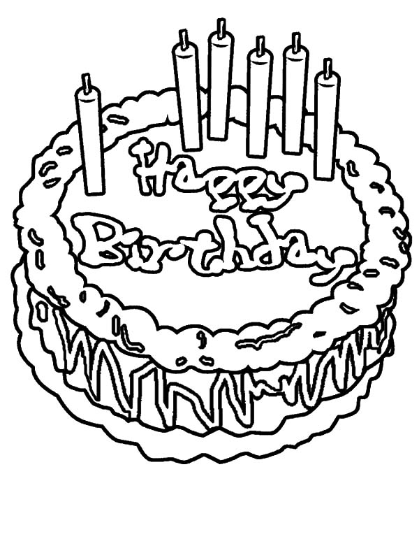 600x771 Birthday Cake NetArt 539x763 Coloring Pages
