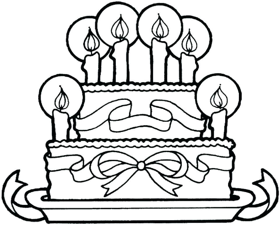 960x771 Birthday Cake Coloring Page Muyatips.us