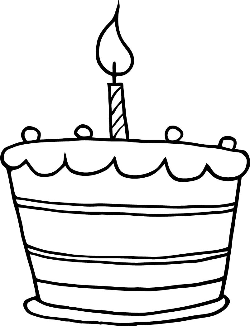 graphic about Birthday Cake Printable identified as Joyful Birthday Cake Drawing at  Free of charge for