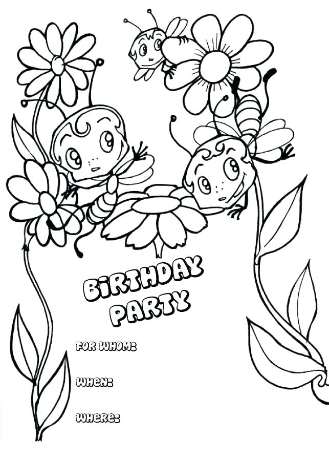 643x900 Free Printable Happy Birthday Card Coloring Pages For Kids Cards