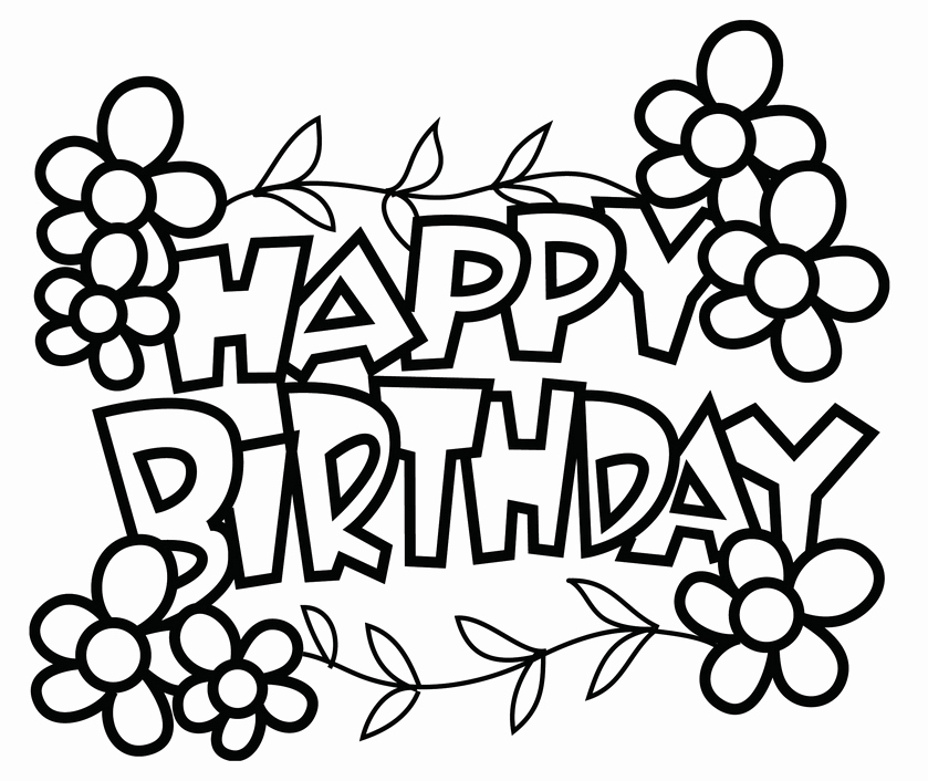 839x706 Happy Birthday Card Black And White Beautiful Happy Birthday