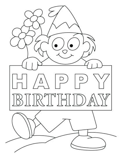 420x543 Happy Birthday Card Coloring Pages Birthday Coloring Cards Happy