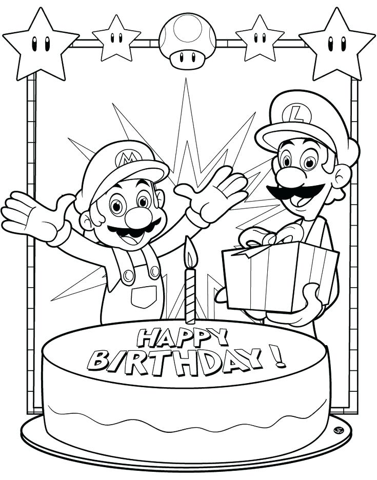 735x936 Happy Birthday Coloring Pages For Uncle Printable Fancy Draw Image