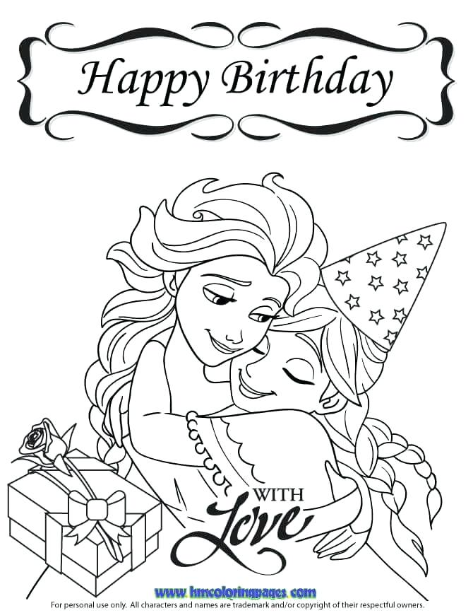 670x867 Birthday Card Coloring Pages Happy Birthday To Princess