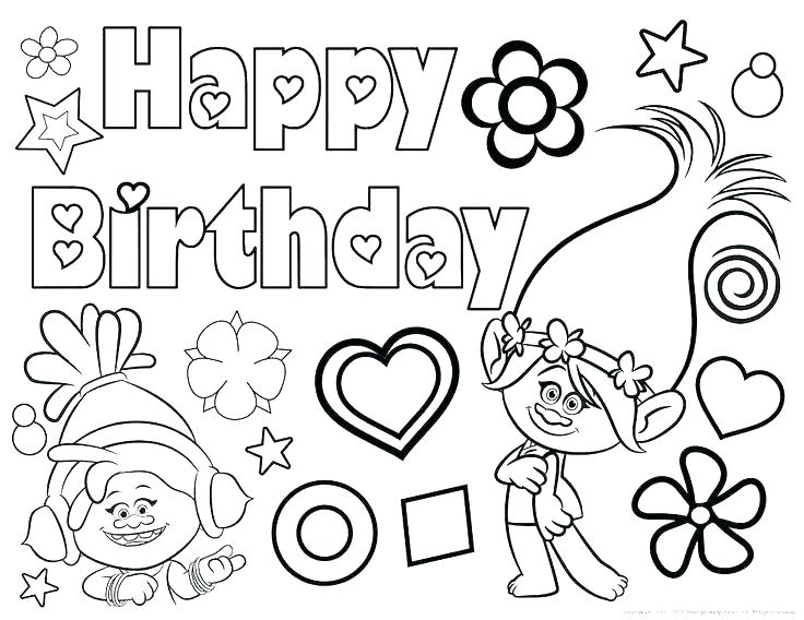 736x568 Birthday Color Book Plus Birthday Coloring Pages For Grandma Color