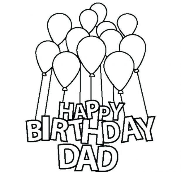 618x587 Coloring Awesome Colorable Birthday Cards On Happy Birthday Cake