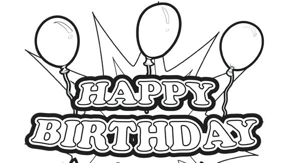 580x326 Coloring Pages Birthday Card Kids And Animals Birthday Party