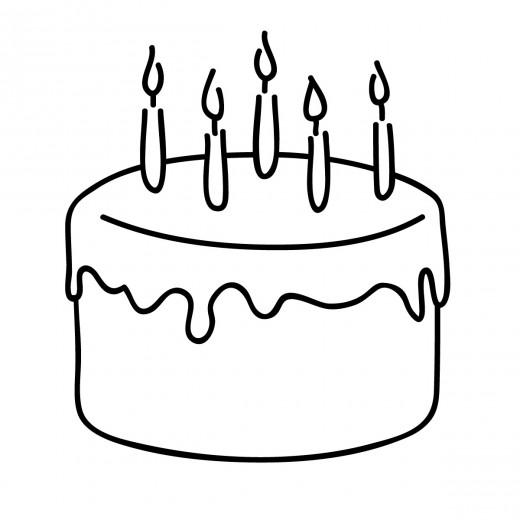 520x520 Drawn Cake Birthday Greeting