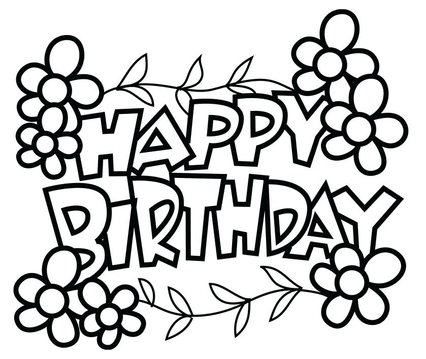 839x706 Free Printable Birthday Coloring Pages Free Printable Coloring