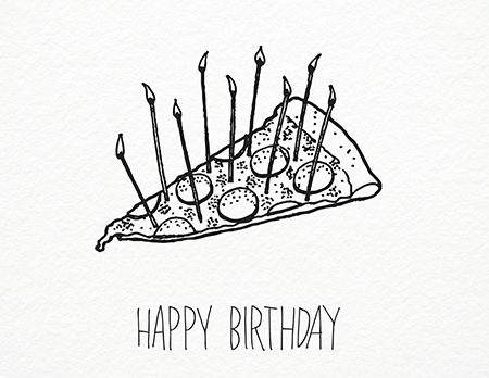 450x348 Pizza Birthday By Iron Curtain Press Postable
