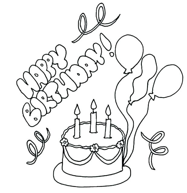 618x638 Happy Birthday Dad Coloring Pages Draw Happy Coloring Pages