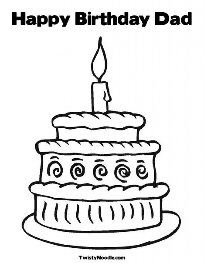 792x1024 Happy Birthday Dad Coloring Pages