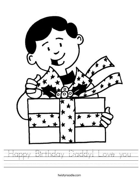 468x605 Happy Birthday Daddy Love You Worksheet