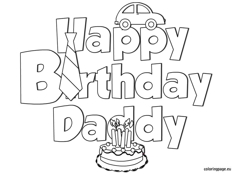 804x595 Happy Birthday Daddy Coloring