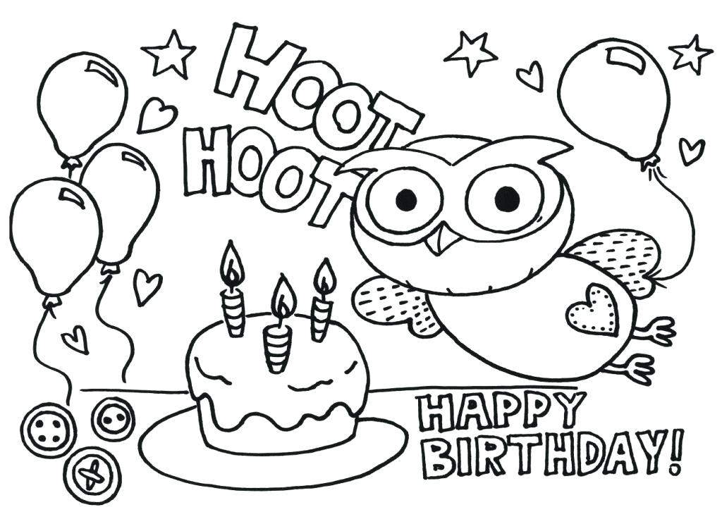 1024x727 Happy Birthday Printable Coloring Pages Birthday Coloring Pages