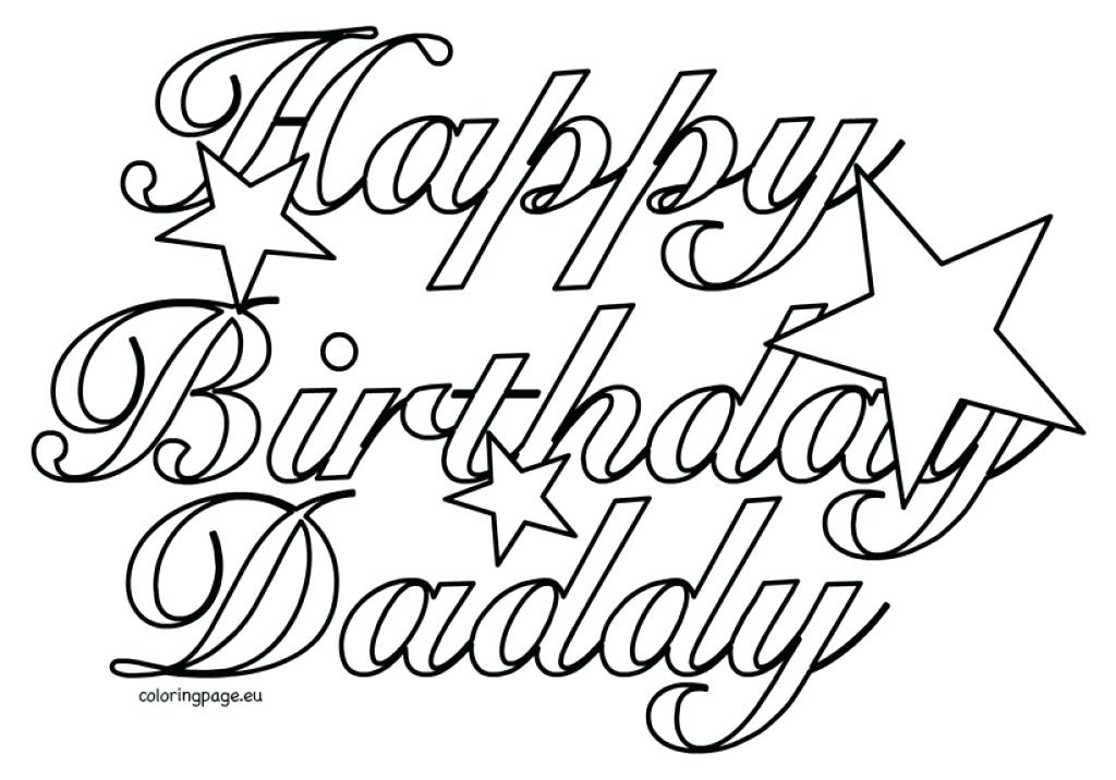1024x716 Printable Happy Birthday Coloring Pages Free Printable Happy