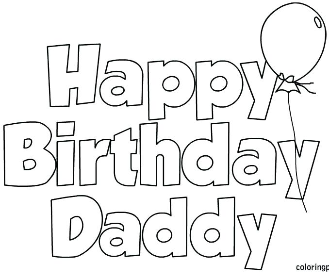 678x575 Coloring Pages Happy Birthday Murs