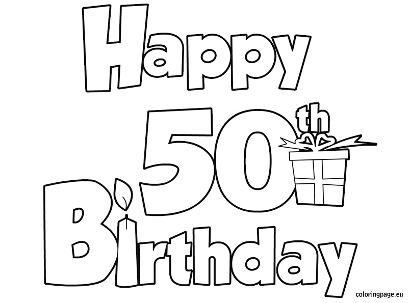 804x595 Happy 50 Birthday.jpg Coloring B Day'S, Parties Amp More