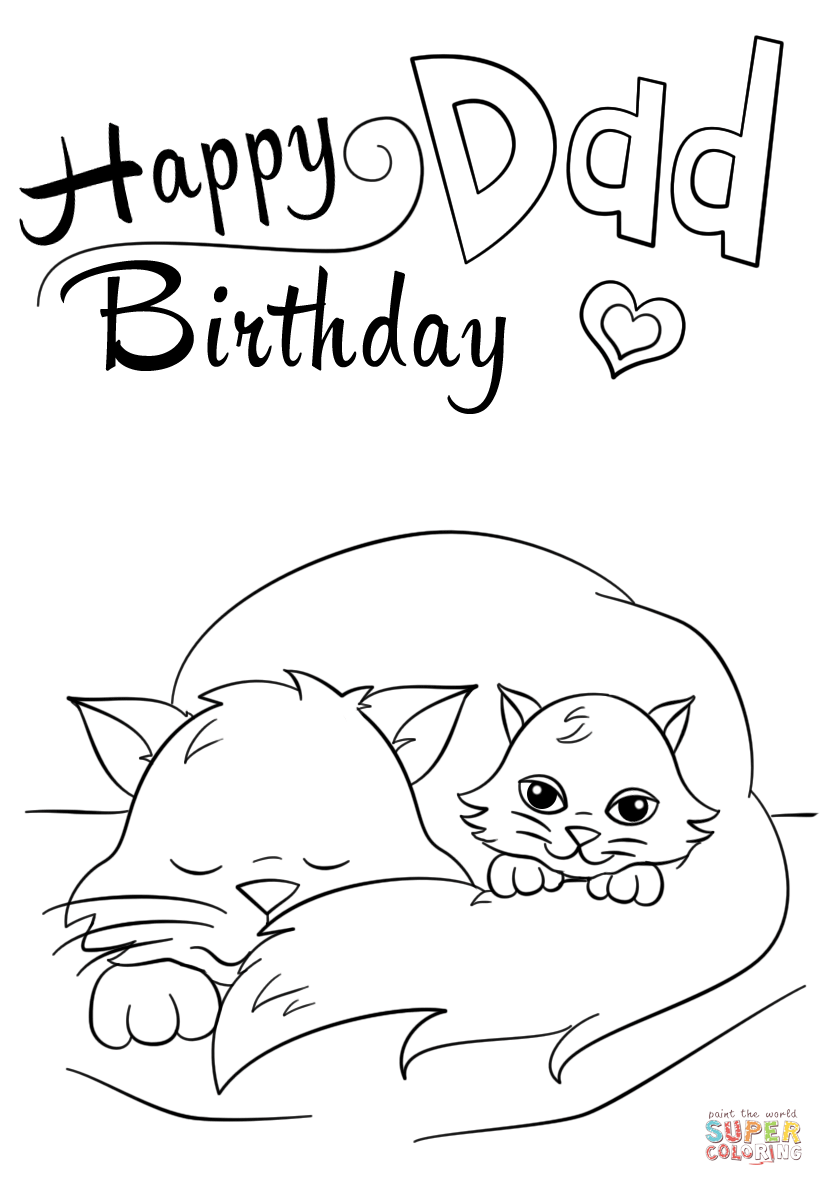 824x1186 Happy Birthday Coloring Pages For Dad Coloring Page For Kids