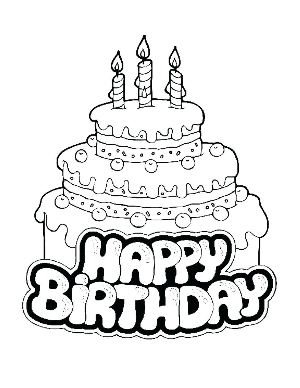 1089x1408 Printable Happy Birthday Dad Printable Drawn Colouring Page