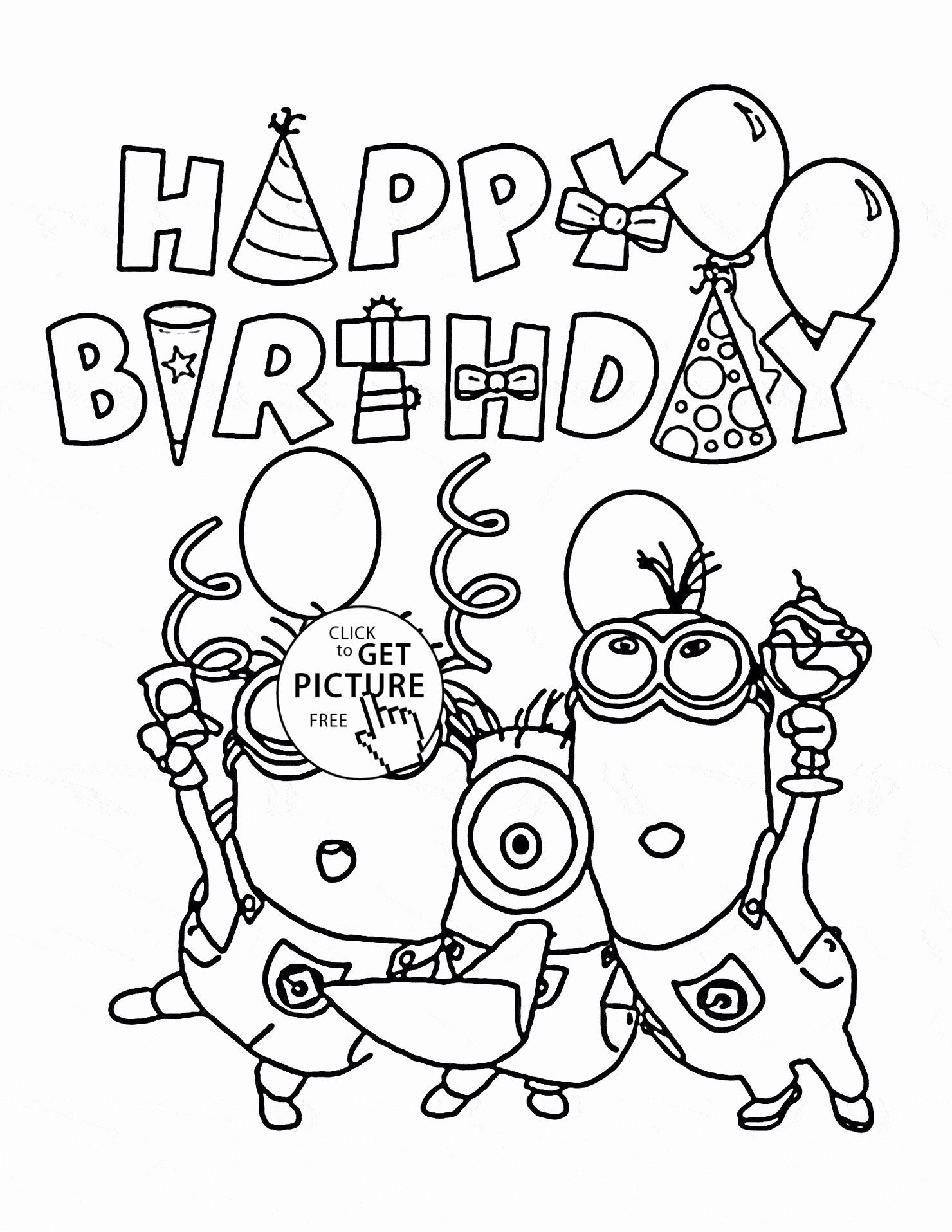 1480x1915 Printable Coloring Pages Happy Birthday Dad Free Draw To Color