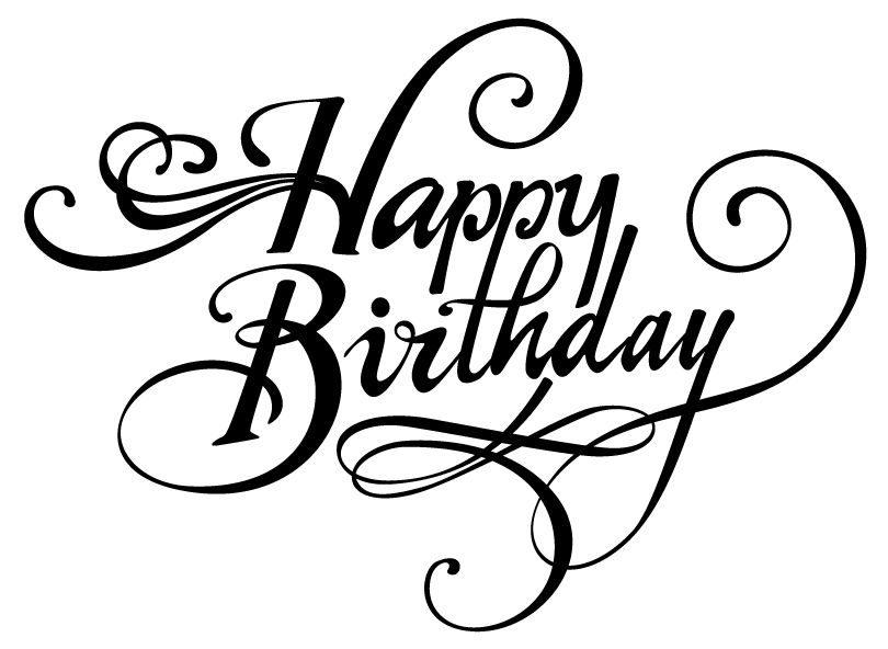 810x592 Happy Birthday Font
