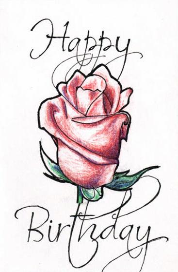 367x558 Happy Birthday Rose By H Heather