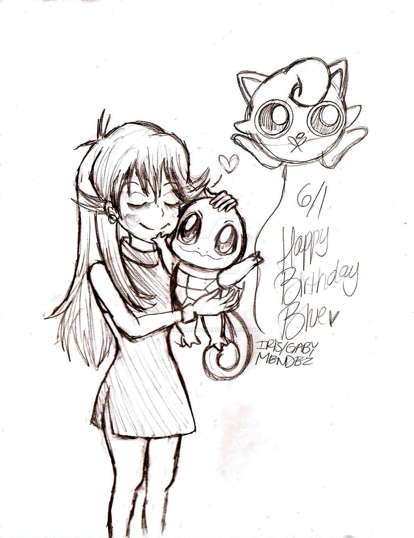 1024x1330 Happy Birthday Blue! Sketch By Macaronichick