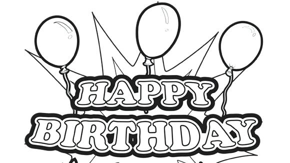 580x326 Coloring Pages For Birthdays Birthday Coloring Pages Free