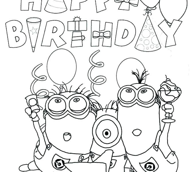 670x600 Coloring Pages For Birthdays Birthday Coloring Pages Free