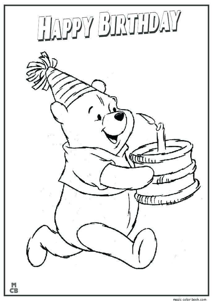 685x975 Coloring Pages For Birthdays Happy Birthday Coloring Pages