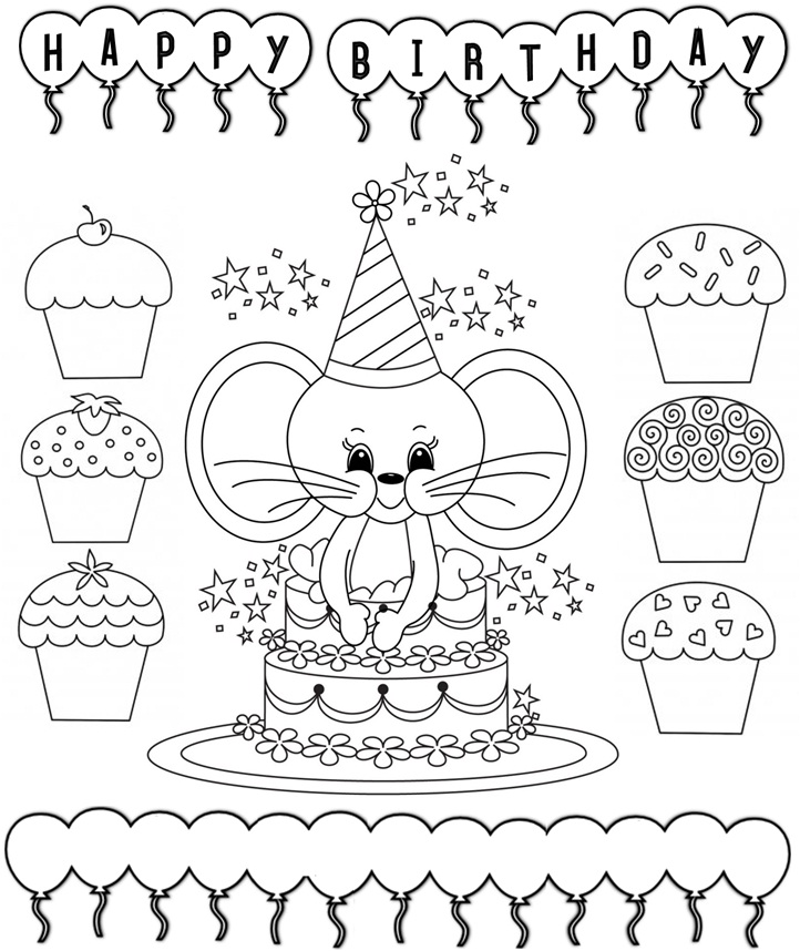 Happy birthday drawing cards at getdrawings free for personal 722x858 enjoy teaching english birthday cards printable bookmarktalkfo Images