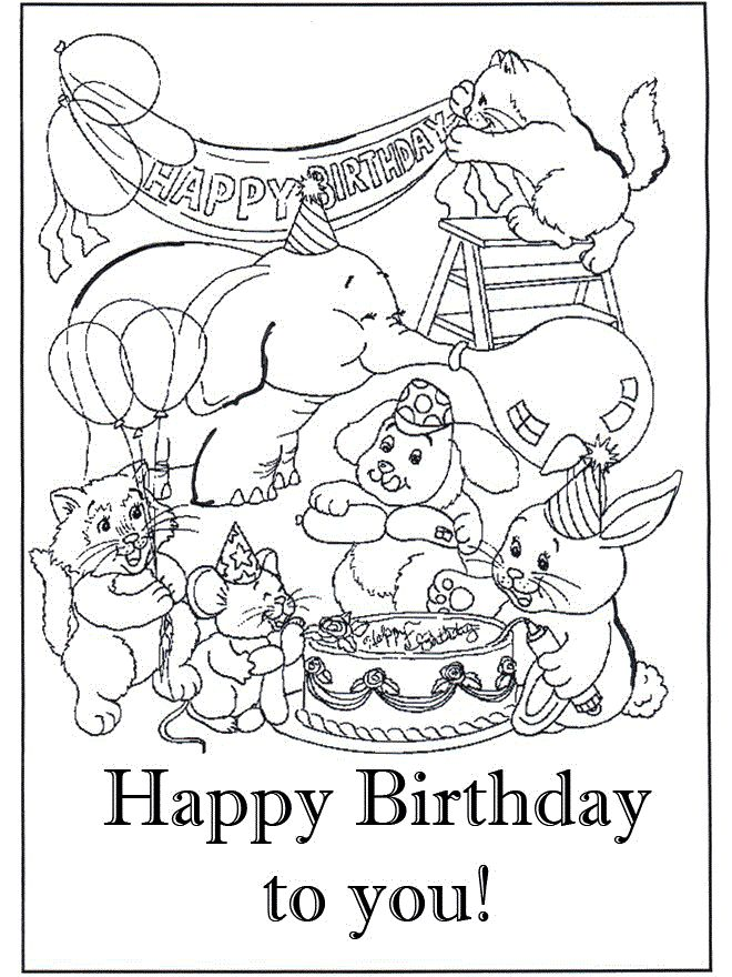 660x880 Happy Birthday Funny Coloring Pages For Girls Printable To