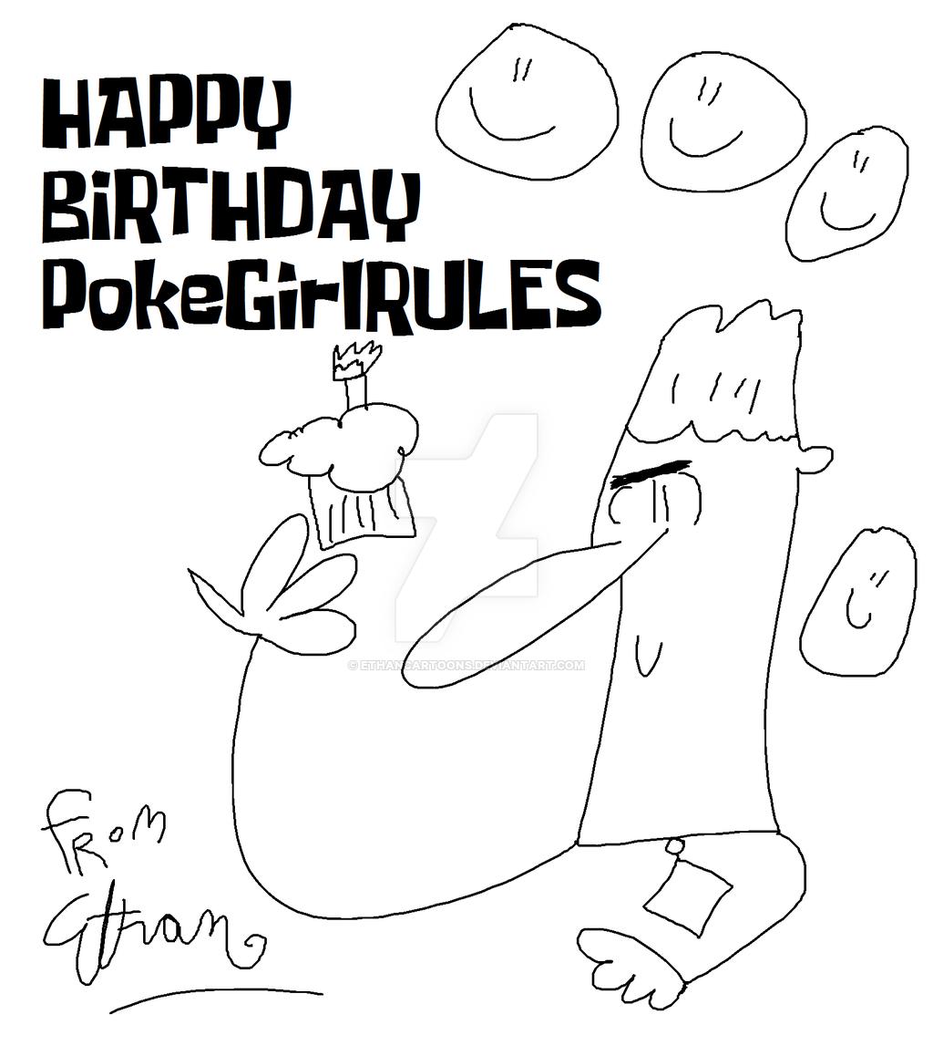 1024x1158 Happy Birthday Pokegirlrules Card By Ethancartoons