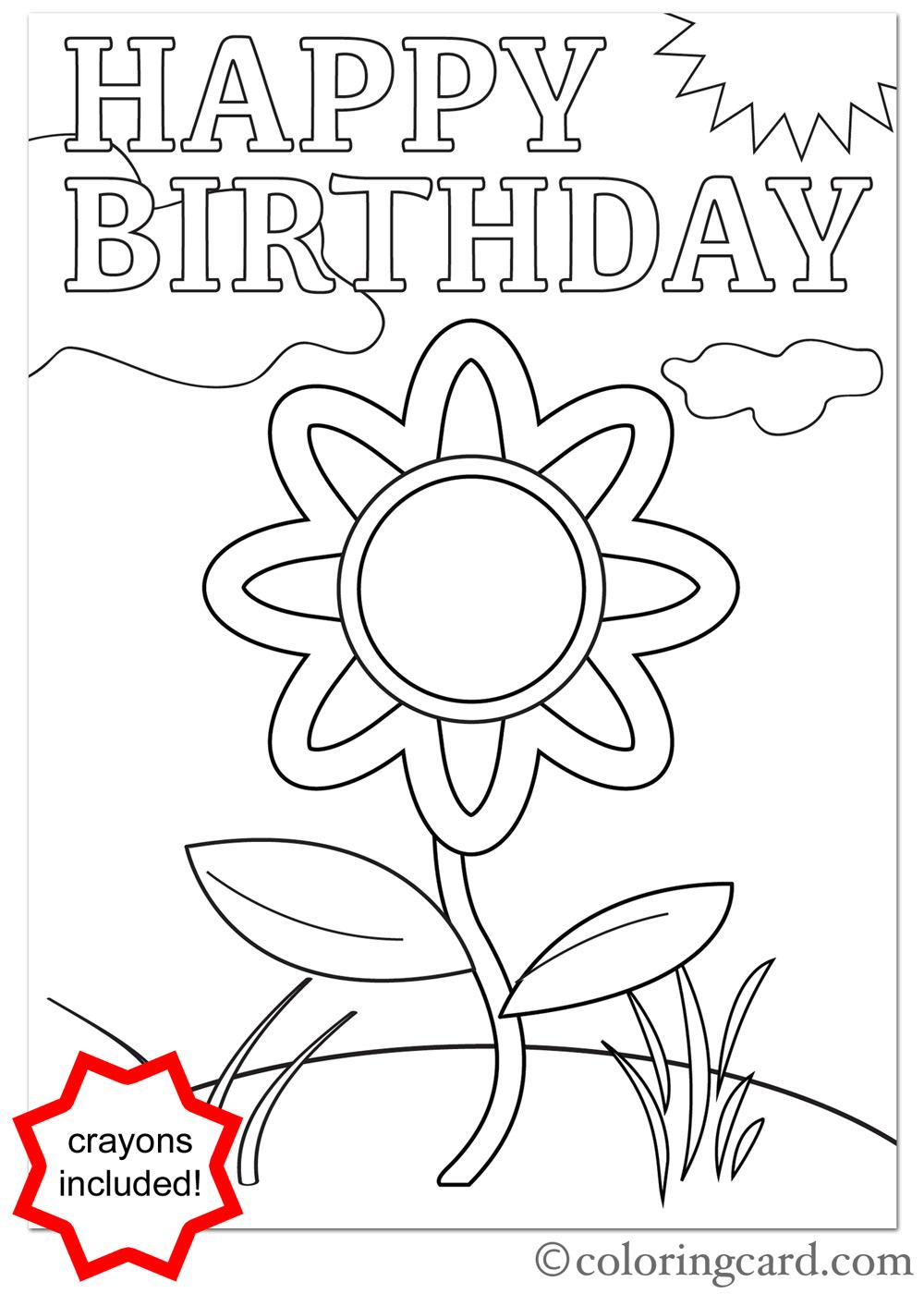 1000x1400 Birthday Coloring Card