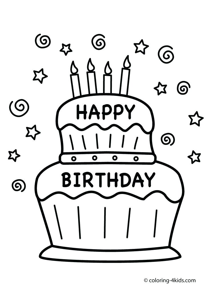 736x1031 Birthday Coloring Pages Happy Birthday Coloring Pages Coloring