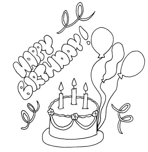 484x500 Happy Birthday Drawing