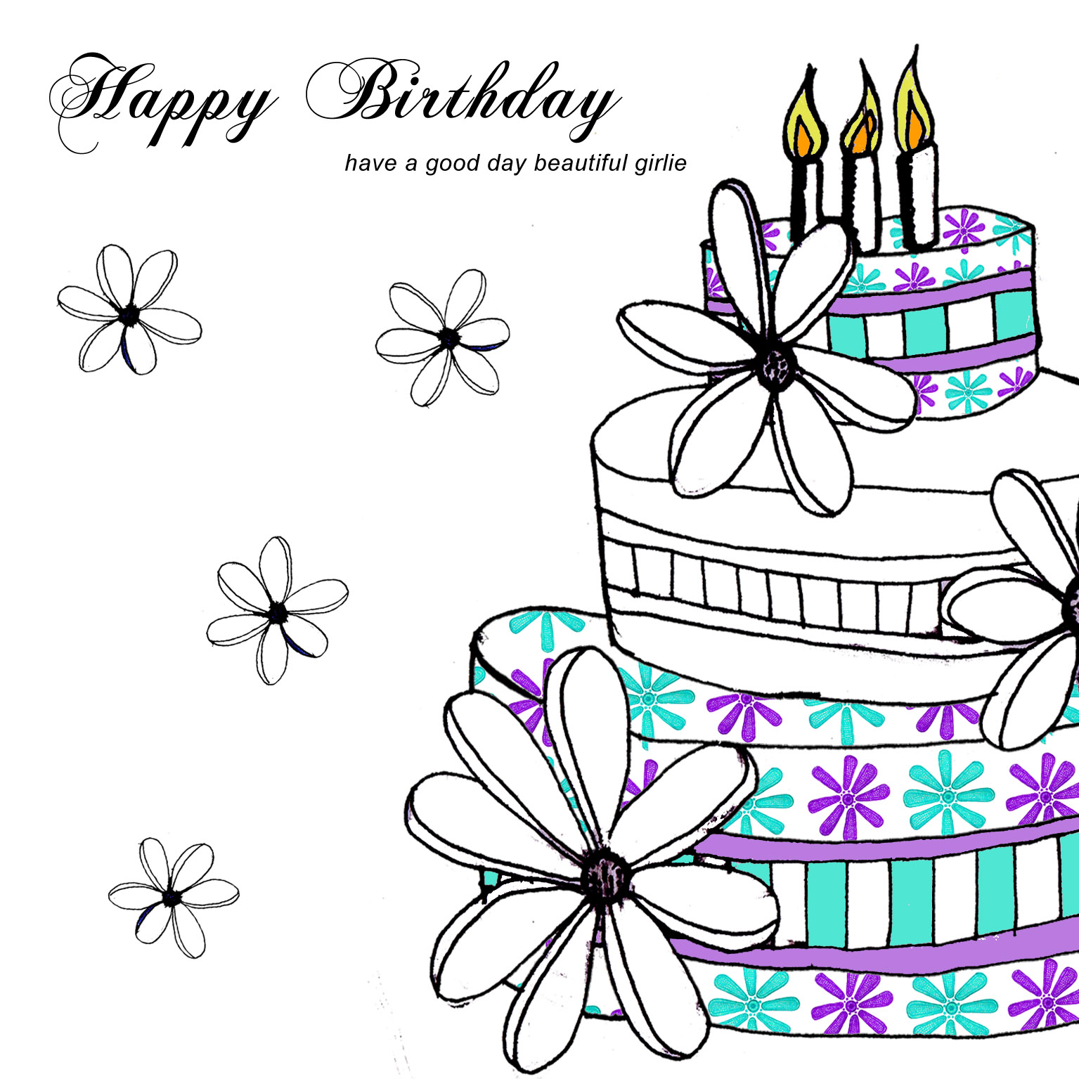 Happy Birthday Drawing Designs At Getdrawings Com Free For