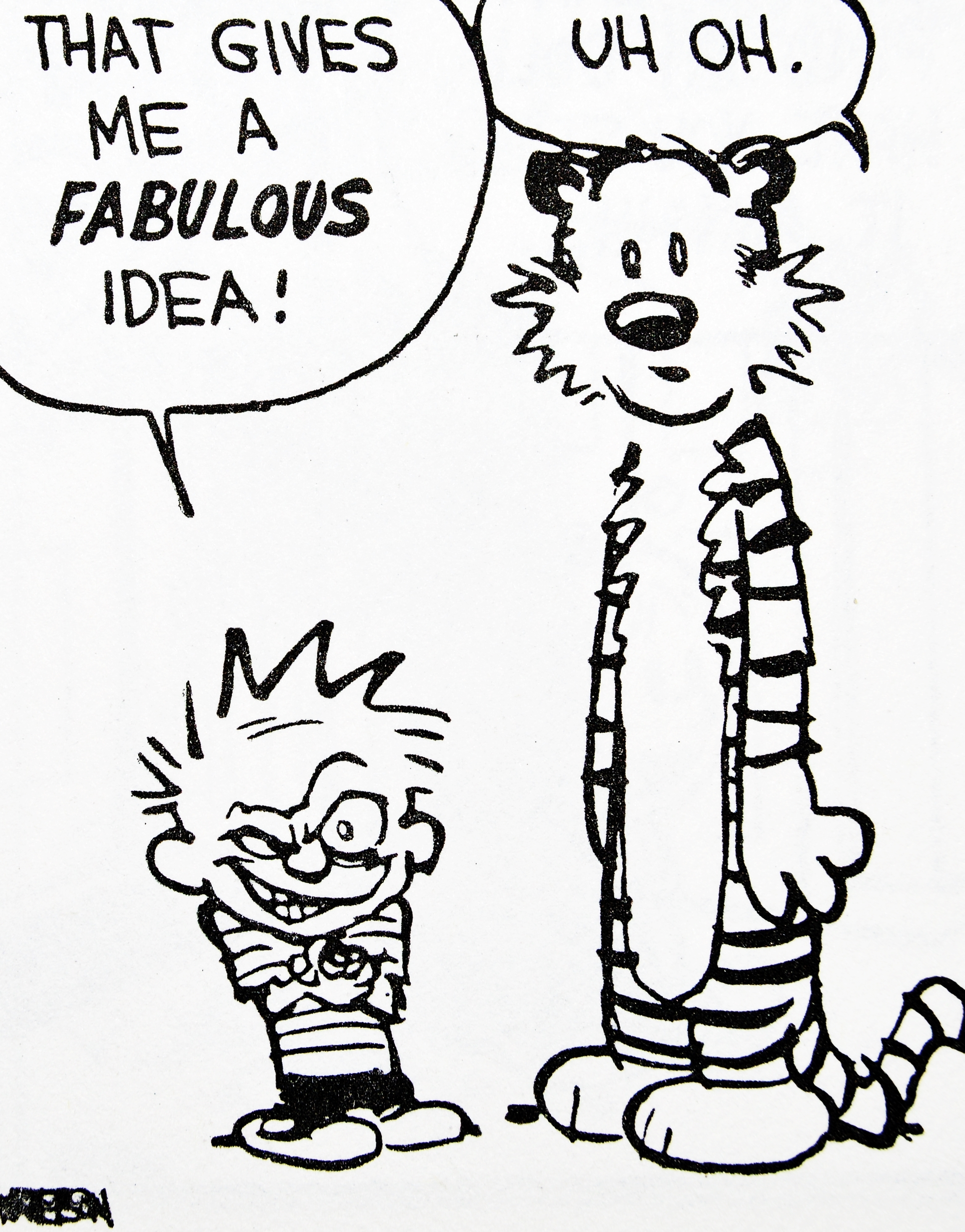 2297x2932 Drawing Calvin And Hobbes Happy Birthday Calvin Hobbes