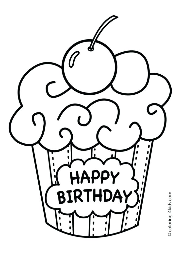 731x1024 Happy Birthday Coloring Drawn Birthday Coloring Page 8 Happy