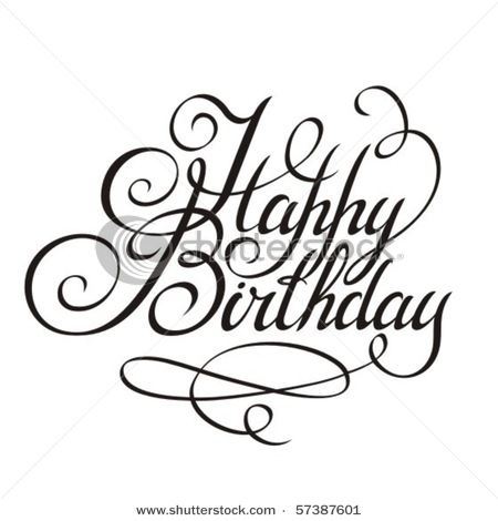 450x470 Happy Birthday In Fancy Letters