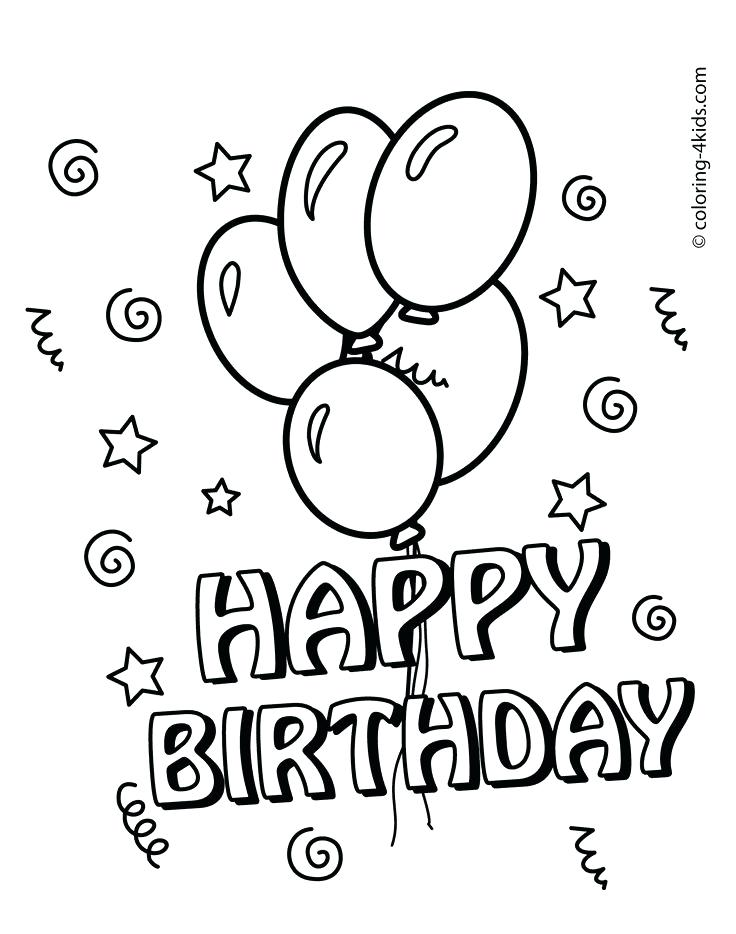 736x934 Birthday Coloring Pages Printable Happy Birthday Coloring Pages